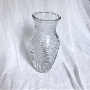 Other - Ribbed Glass Vase